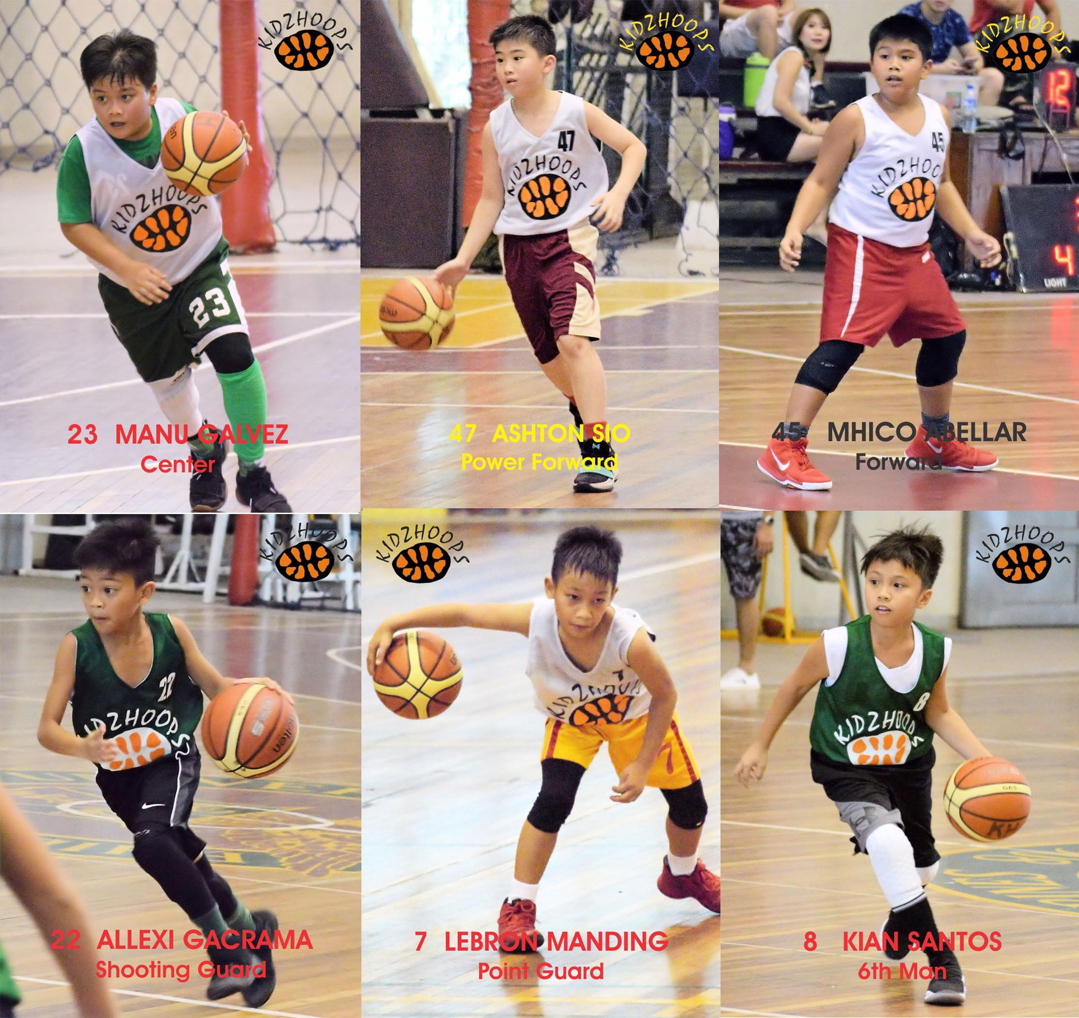 U11 Player Mythical 5 + 6th Man
